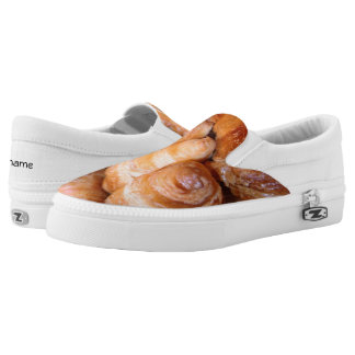 Delicious classic french croissants photograph Slip-On sneakers