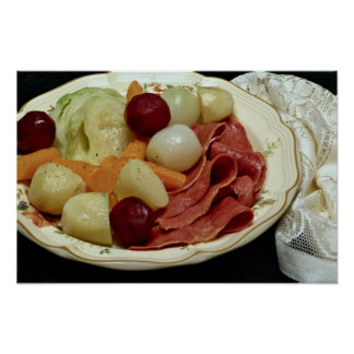 Delicious Corned beef and cabbage Poster