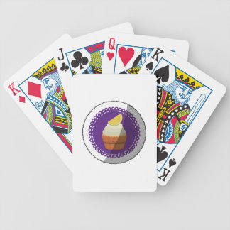 Delicious cup cake bicycle playing cards
