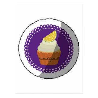 Delicious cup cake postcard