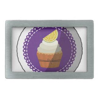 Delicious cup cake rectangular belt buckle