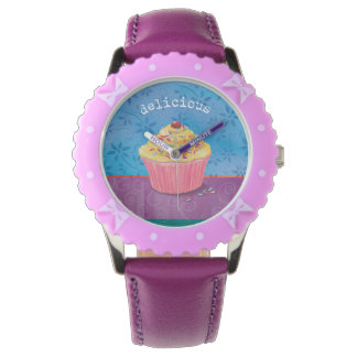 Delicious Cupcake Girl's Watch