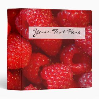 Delicious cute dark pink raspberry photograph binder