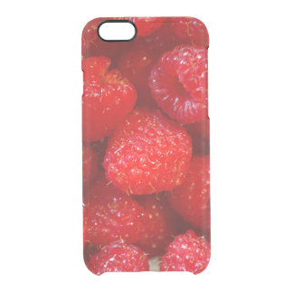 Delicious cute dark pink raspberry photograph clear iPhone 6/6S case