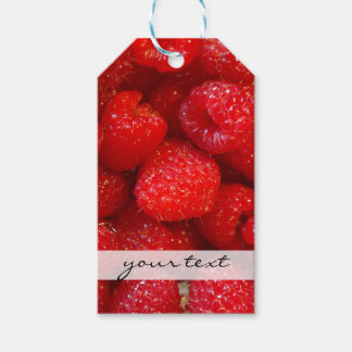 Delicious cute dark pink raspberry photograph gift tags