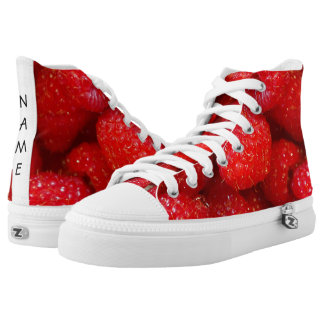 Delicious cute dark pink raspberry photograph high tops