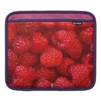 Delicious cute dark pink raspberry photograph iPad sleeve