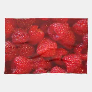 Delicious cute dark pink raspberry photograph kitchen towel