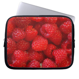 Delicious cute dark pink raspberry photograph laptop sleeve
