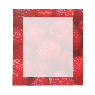 Delicious cute dark pink raspberry photograph notepad