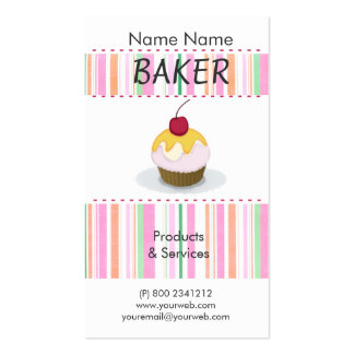 Delicious Cute Party Chef Cooking  Cakes Cupcakes Pack Of Standard Business Cards