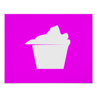 Delicious Cute Pink Cupcake Poster