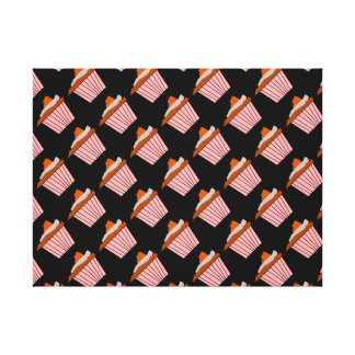 Delicious Cute Pink Cupcake With Chocolate Frostin Gallery Wrap Canvas