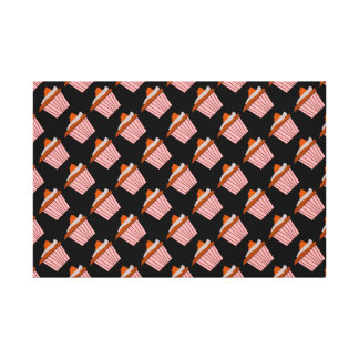 Delicious Cute Pink Cupcake With Chocolate Frostin Gallery Wrapped Canvas