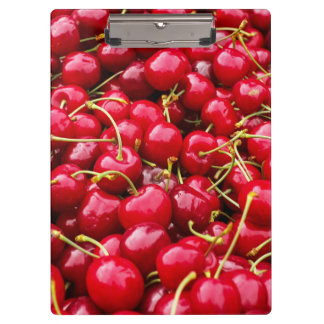 delicious cute red cherry fruits photograph clipboards