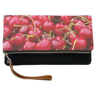 delicious cute red cherry fruits photograph clutch