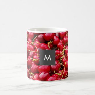 delicious cute red cherry fruits photograph coffee mug