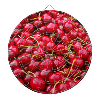 delicious cute red cherry fruits photograph dartboard