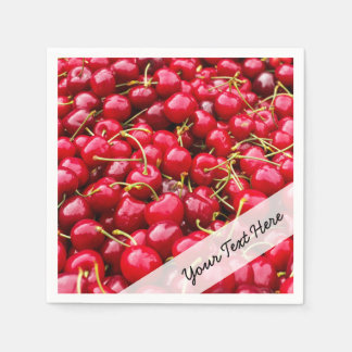 delicious cute red cherry fruits photograph disposable napkin