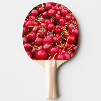 delicious cute red cherry fruits photograph ping pong paddle