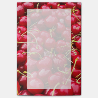 delicious cute red cherry fruits photograph post-it® notes