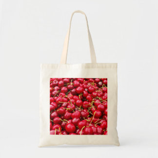 delicious cute red cherry fruits photograph tote bag