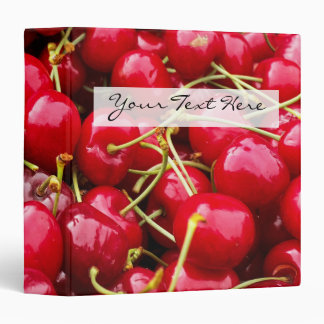 delicious cute red cherry fruits photograph vinyl binders
