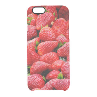 delicious dark pink strawberries photograph clear iPhone 6/6S case