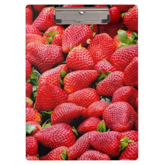 delicious dark pink strawberries photograph clipboard