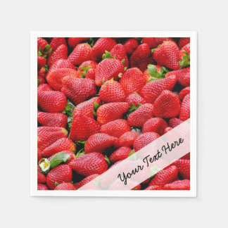 delicious dark pink strawberries photograph disposable napkins