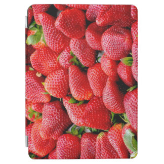 delicious dark pink strawberries photograph iPad air cover