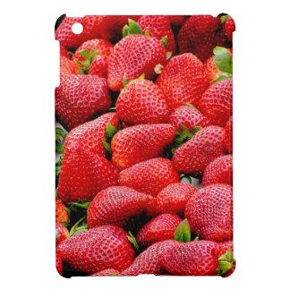 delicious dark pink strawberries photograph iPad mini cover