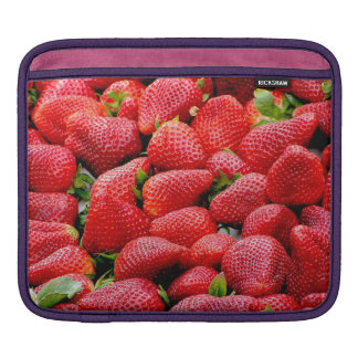 delicious dark pink strawberries photograph iPad sleeve