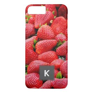 delicious dark pink strawberries photograph iPhone 7 plus case