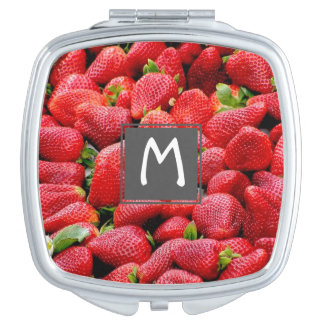 delicious dark pink strawberries photograph mirror for makeup