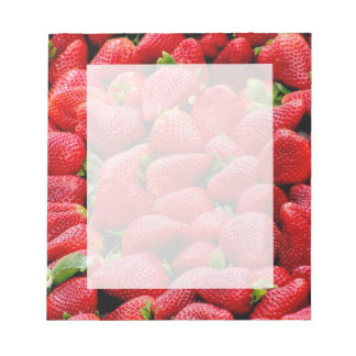 delicious dark pink strawberries photograph notepad