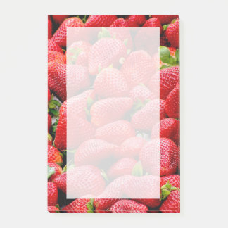 delicious dark pink strawberries photograph post-it notes