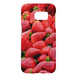 delicious dark pink strawberries photograph samsung galaxy s7 case