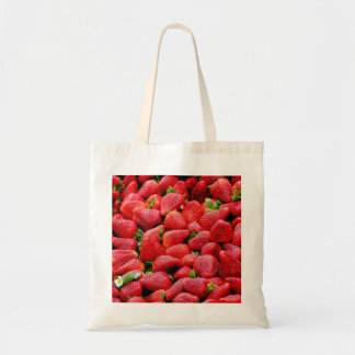 delicious dark pink strawberries photograph tote bag