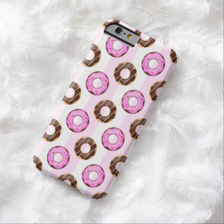 Delicious Donuts Pink Stripes iPhone 6 Case