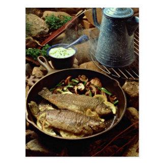 Delicious Fish fry Postcard