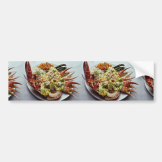 Delicious Fisherman's plate for food lovers Bumper Sticker