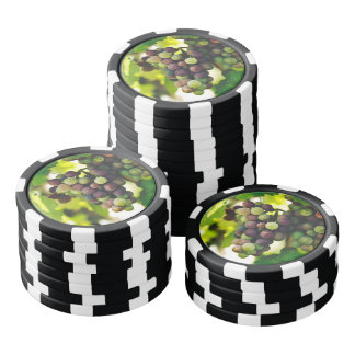 Delicious grapes set of poker chips