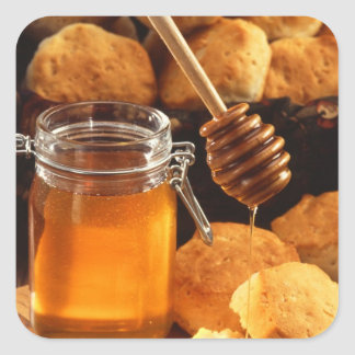 Delicious Honey Jar Square Sticker