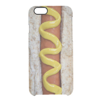delicious hot dog with mustard photograph clear iPhone 6/6S case