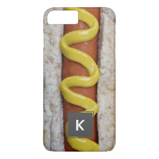 delicious hot dog with mustard photograph iPhone 8 plus/7 plus case