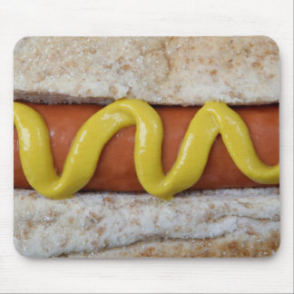 delicious hot dog with mustard photograph mouse pad