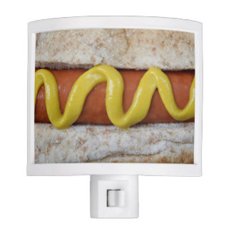 delicious hot dog with mustard photograph nite lites