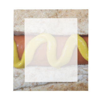 delicious hot dog with mustard photograph notepad