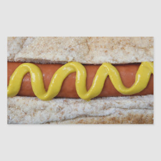 delicious hot dog with mustard photograph sticker
